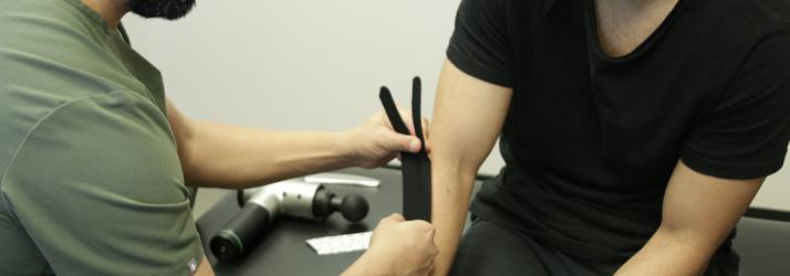 Chiropractor Aliso Viejo CA Salman Khanaki and Kinesio Taping
